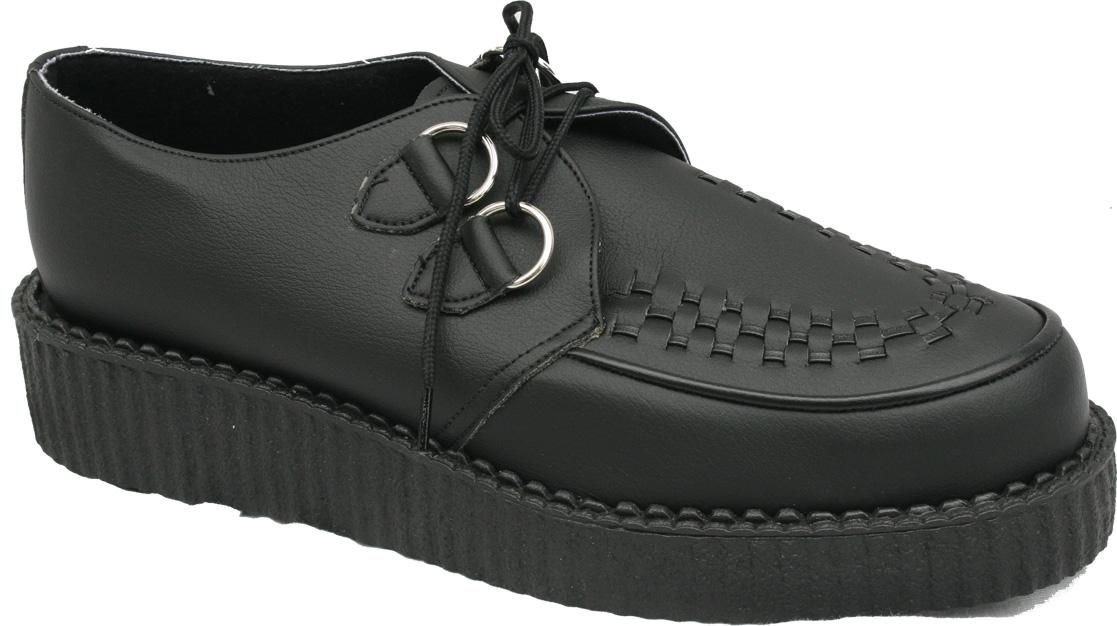 Vegan Brothel Creeper Shoes - Black