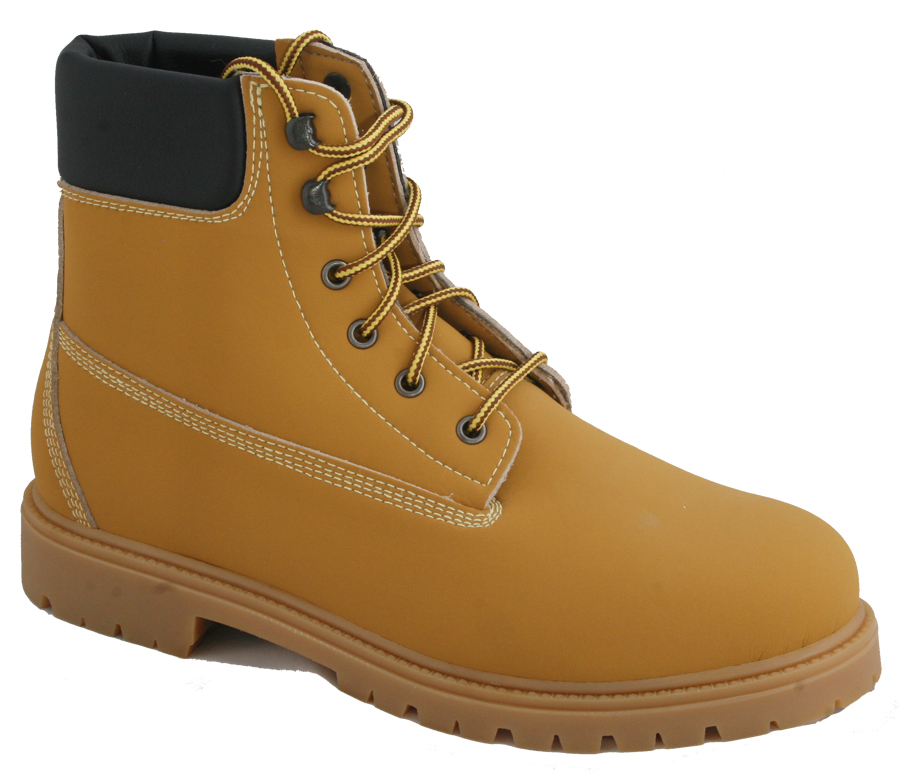 Vegan Timberland Style Traeth Boots Mustard Sole